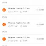 小米运动9月跑步截图